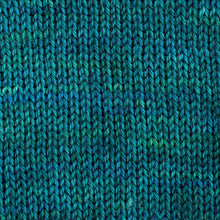 Load image into Gallery viewer, Sweet Georgia Flaxen Silk Fine, Knitted swatch in Fizzy Water