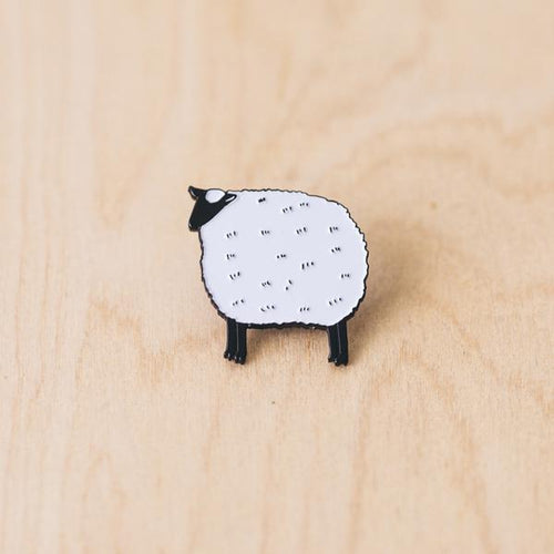 Fluffy Sheep Enamel Pin