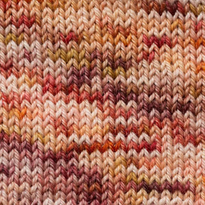 Sweet Georgia Flaxen Silk Fine, Knitted swatch in Fauna