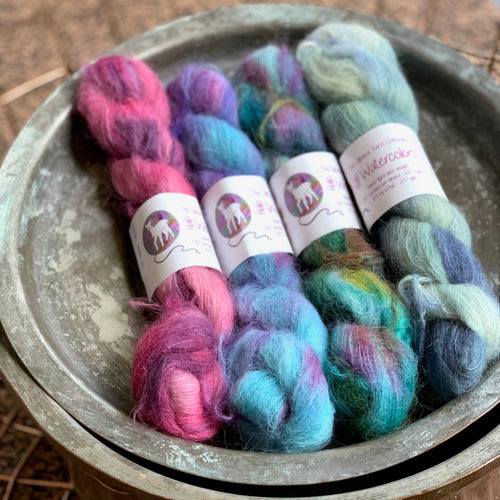 The Alpaca Yarn Co | Halo Watercolours: Brushed Suri Alpaca Yarn