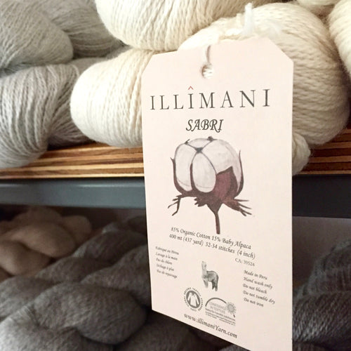 Illimani's Sabri Yarn on the shelf at The Yarn Room