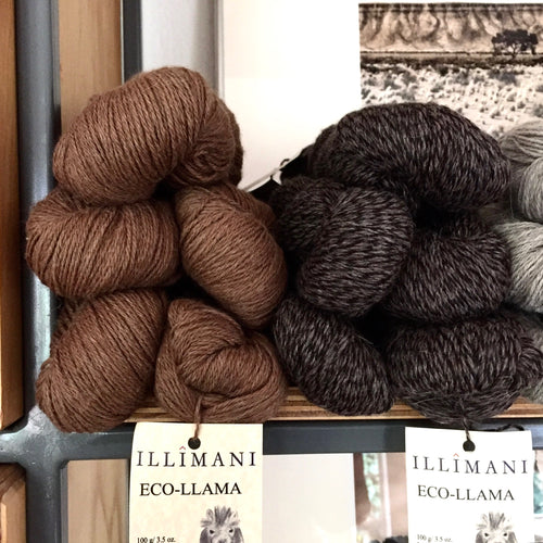 Illimani's Eco-Llama Yarn Displayed at The Yarn Room