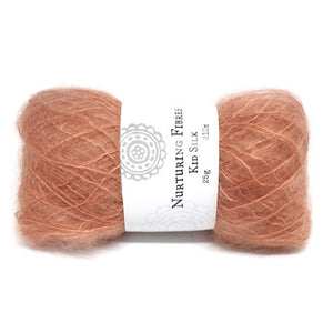 Nurturing Fibres Kid Silk Lace in Maple