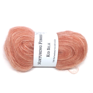 Nurturing Fibres Kid Silk Lace in Quince