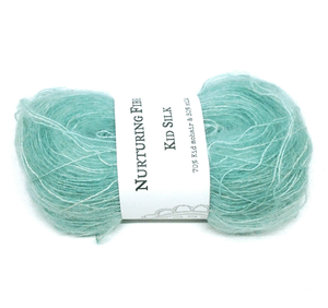 Nurturing Fibres Kid Silk Lace in Sea Glass