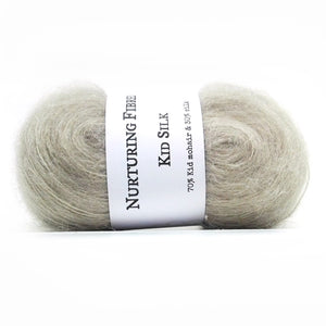 Nurturing Fibres Kid Silk Lace in Lunar