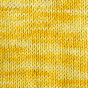 Sweet Georgia Flaxen Silk Fine, Knitted swatch in Lemon Curd