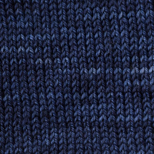 Sweet Georgia Flaxen Silk Fine, Knitted swatch in Marine
