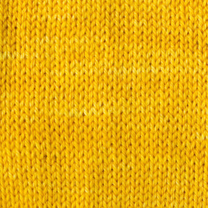 Sweet Georgia Flaxen Silk Fine, Knitted swatch in Saffron