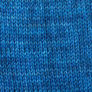 Sweet Georgia Flaxen Silk Fine, Knitted swatch in Sapphire