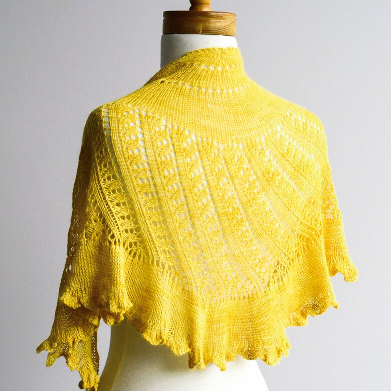 Sweet Georgia Pattern | Shattered Sun Shawl