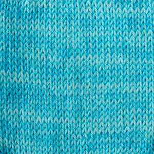 Sweet Georgia Flaxen Silk Fine, Knitted swatch in Summer Skin