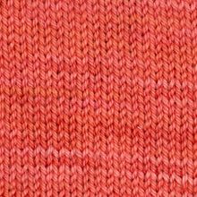Load image into Gallery viewer, Sweet Georgia Flaxen Silk Fine, Knitted swatch in Tangerine