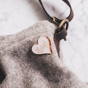 K2TOG Club | Wool Heart: Enamel Pin