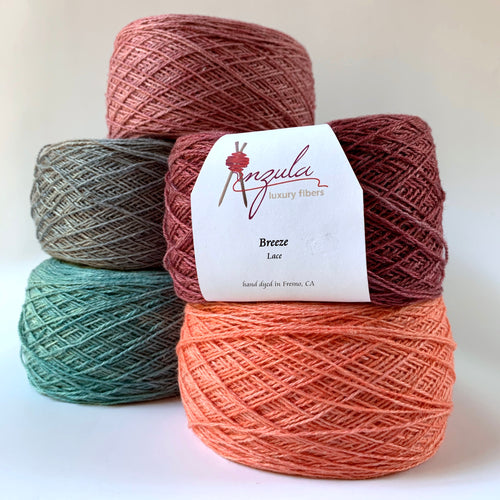 Anzula | Breeze : Hand-dyed Linen & Silk Yarn