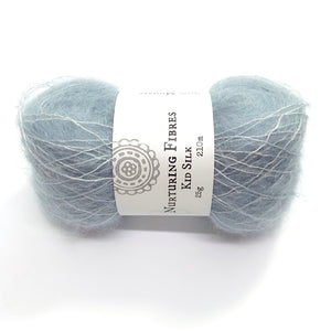 Nurturing Fibres Kid Silk Lace in Glacier