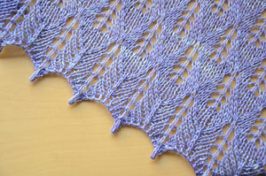 Sweet Georgia Pattern | Lilac Leaves Shawl