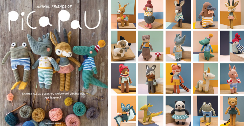 animal friends of pica pau gather all 20 colorful amigurumi animal characters