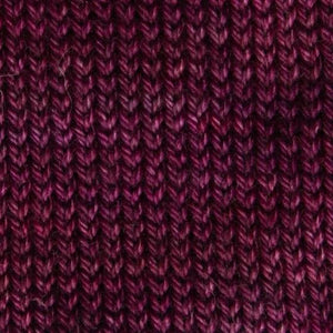 Sweet Georgia Flaxen Silk Fine, Knitted swatch in Trinket