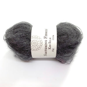 Nurturing Fibres Kid Silk Lace in Charcoal