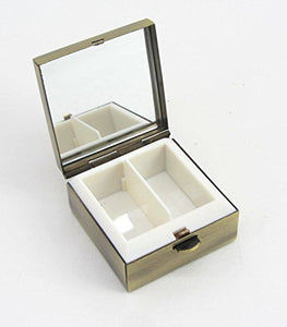 Two compartment tray inside the lotus bloom pill box