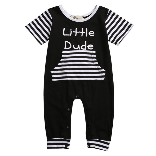 Little dude romper - Butterflybabiesboutique