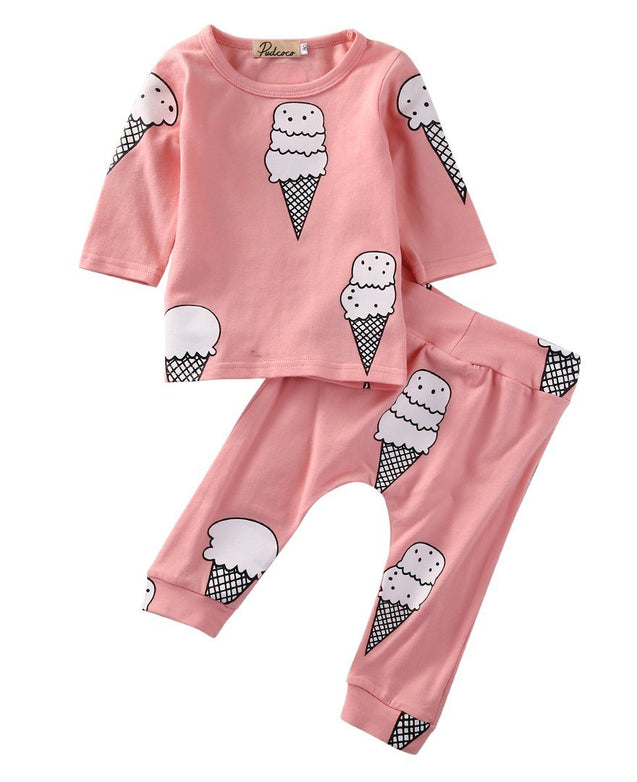 Sweet icecream 2 peice set - Butterflybabiesboutique