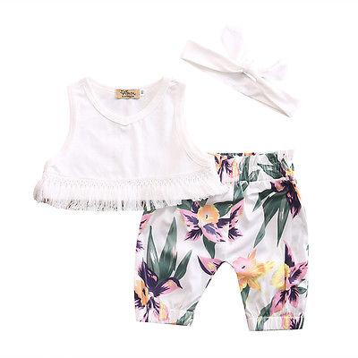 Floral keeper 3 piece set - Butterflybabiesboutique