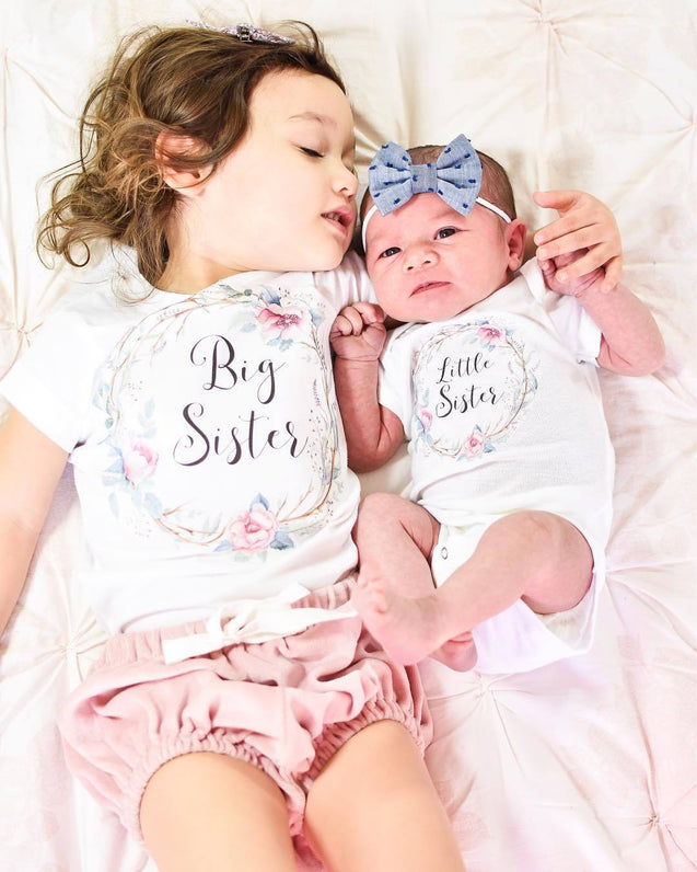Little & big sister matching outfits - Butterflybabiesboutique