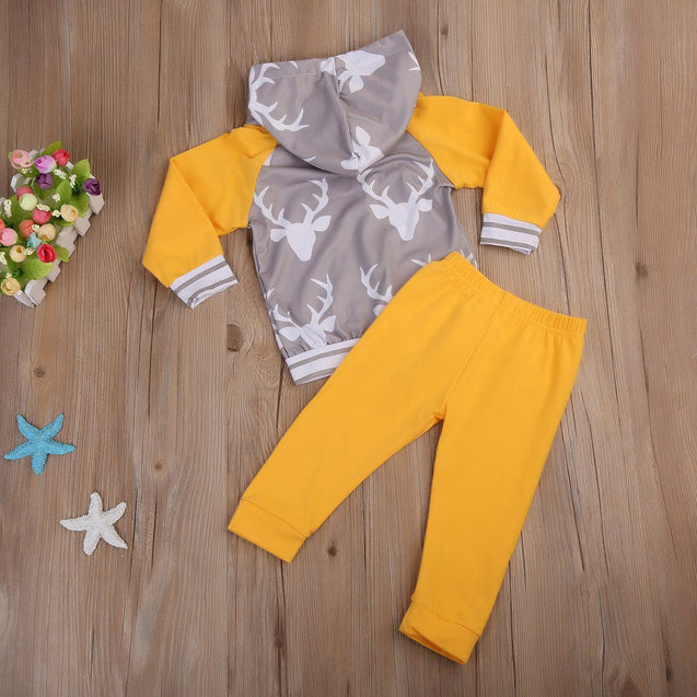 Yellow hunter 2 piece set - Butterflybabiesboutique