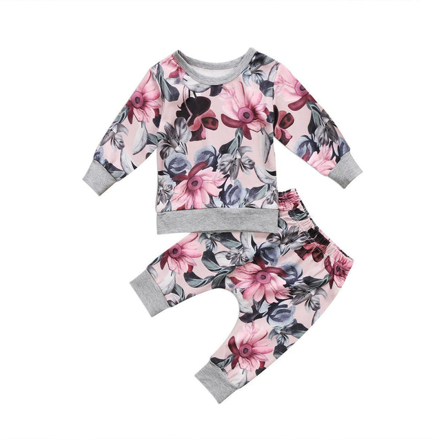 Flower party 2 piece set - Butterflybabiesboutique