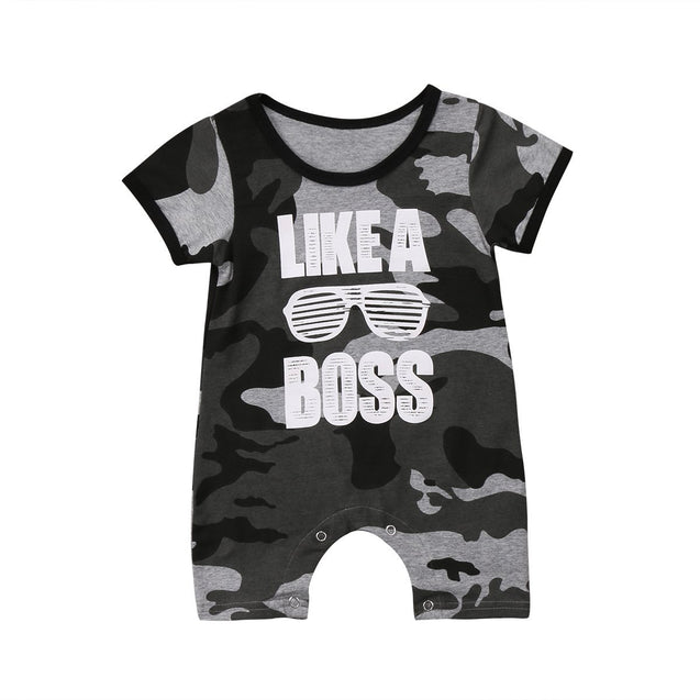Like a boss romper - Butterflybabiesboutique