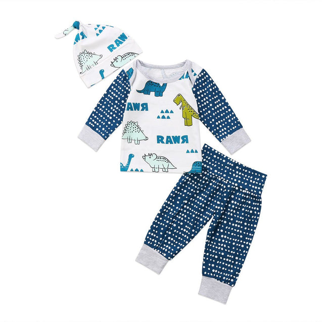 Rawr 3 piece set - Butterflybabiesboutique