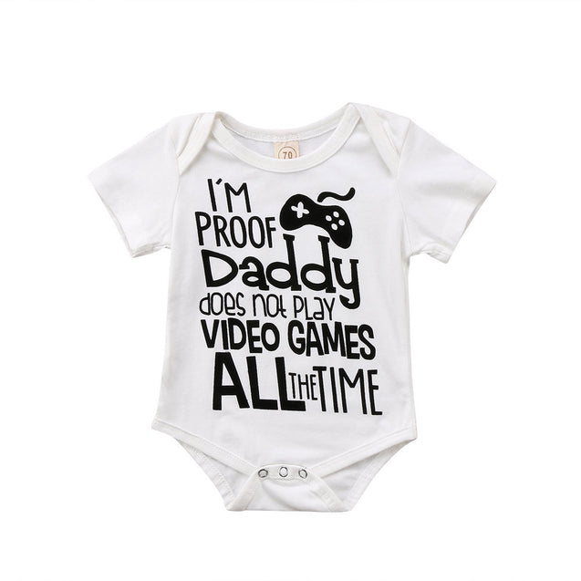 I'm proof daddy does not play video games all the time onesie - Butterflybabiesboutique