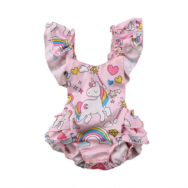 Unicorn fun jumpsuit - babybaduco
