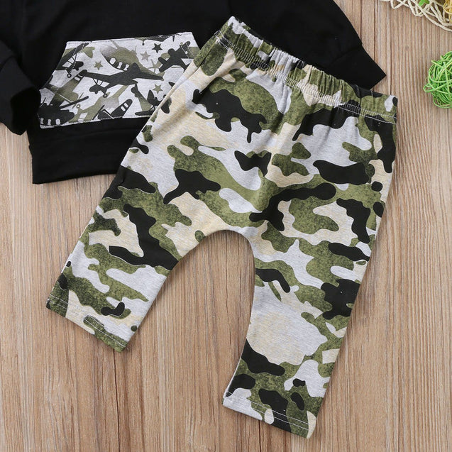 Camo space fighter 2 piece set - Butterflybabiesboutique