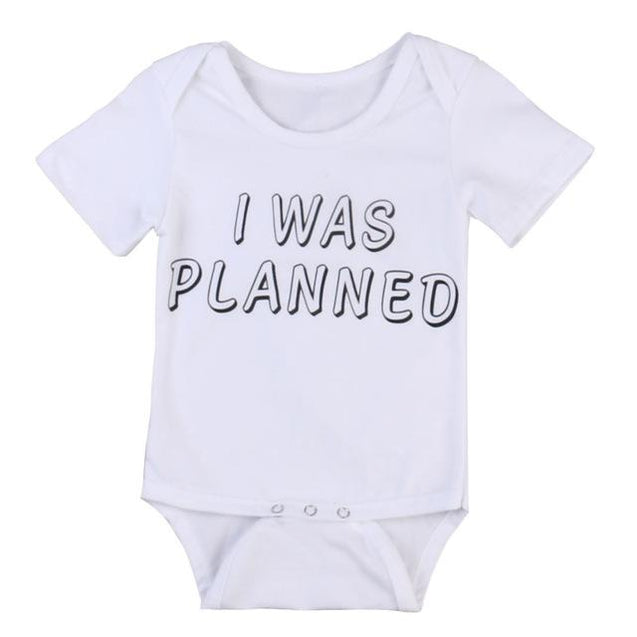 I was planned and surprised onesie - Butterflybabiesboutique