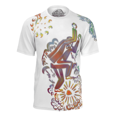 street flight all over print short sleeve t-shirt with brilliant things I graphic-front view