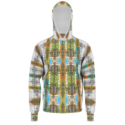 street flight all over print hoodie with miami one-seven 2 graphic-front view