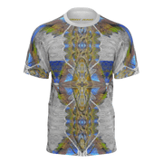 street flight all over print short sleeve t-shirt with my alchemical romance 1 graphic-front view