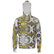 street flight all over print hoodie with my alchemical romance 3 graphic-front view