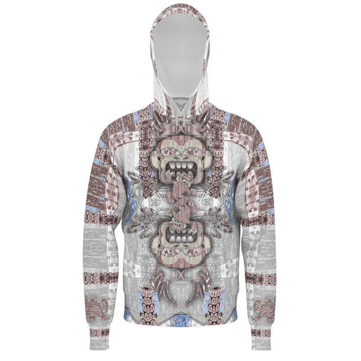street flight all over print hoodie with miami one-seven 1 graphic-front view