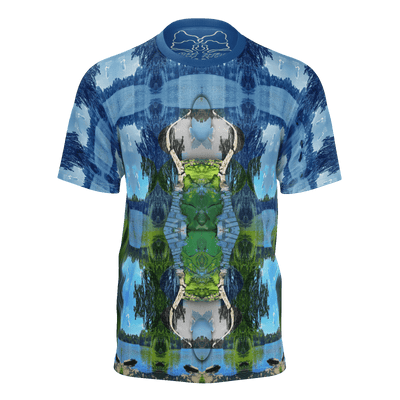 street flight all over print short sleeve t-shirt with trophy life 3 graphic-front view