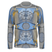 street flight all over print long sleeve t-shirt with swurf 2 graphic-front view