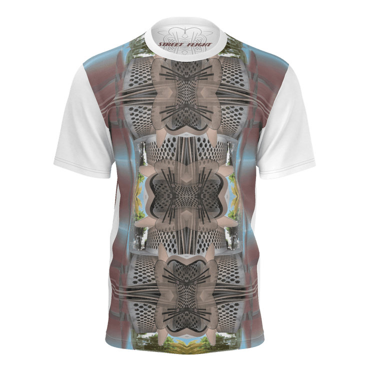 street flight all over print long sleeve t-shirt with miami one-seven 3 graphic-front view