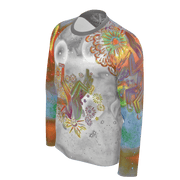 street flight all over print long sleeve t-shirt with brilliant things I graphic-3/4 front view