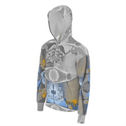 street flight all over print hoodie with swurf 2 graphic-3/4 front view