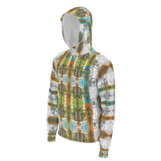 street flight all over print hoodie with miami one-seven 2 graphic-3/4 front view