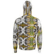street flight all over print hoodie with my alchemical romance 3 graphic-rear view