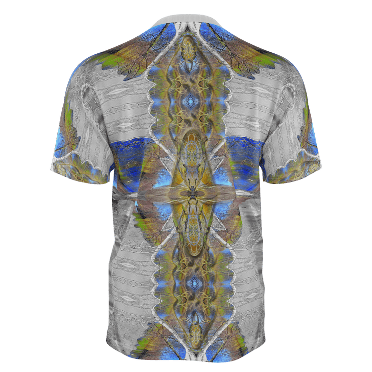 street flight all over print short sleeve t-shirt with my alchemical romance 1 graphic-rear view